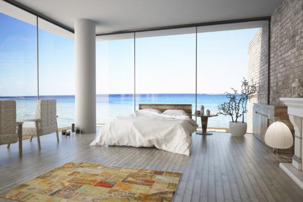 Ocean side house bedroom